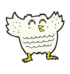 Comic cartoon black bird vector