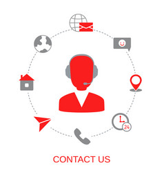 contact us support help vector image