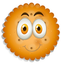 Cookie with happy face vector