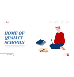 distance online or home education website landing vector image
