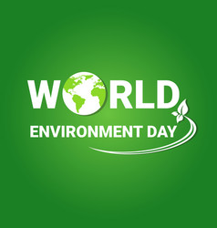 Earth globe world environment day ecology vector