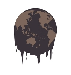 earth oil melting icon vector image