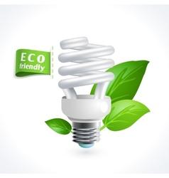 Ecology symbol lightbulb vector image