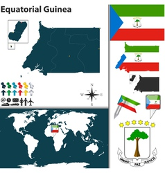 Equatorial Guinea map world vector image