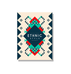 ethnic style abstract original design ethno vector image