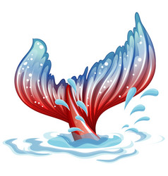Fantacy theme with mermaid fin underwater vector