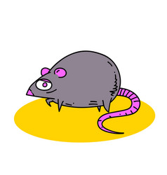 Fat rat vector