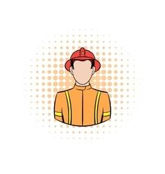 Fireman comics icon vector
