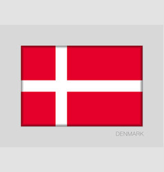 Flag of denmark national ensign aspect ratio 2 to vector