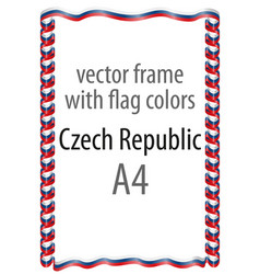 Flag v14 czech republic vector