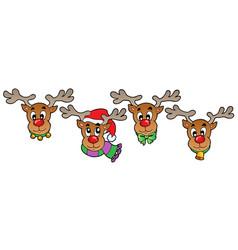 Four cute christmas deers vector