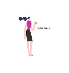 girl break time use in web d vector image