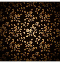 Gold leaves on black vector