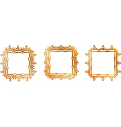 Gold pattern frame vector
