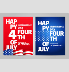 Happy independence day 4 th july usa vector