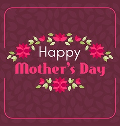 Happy Mothers Day Hand-drawn Greeting Card with vector image