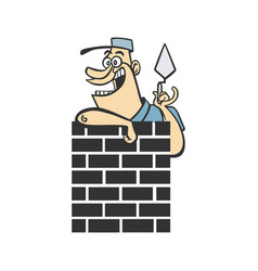home builder cartoon vector image