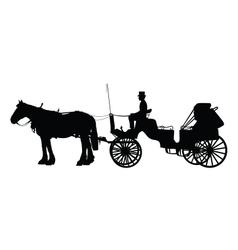 Horse and Buggy vector image