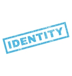 Identity Rubber Stamp vector