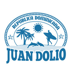 Juan dolio stamp or label vector