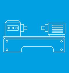 lathe machine icon outline style vector image