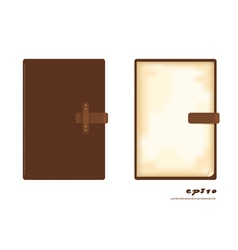Leather note book vector