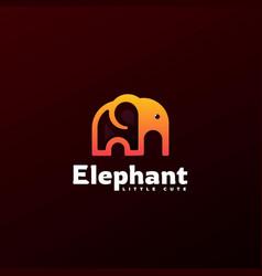 Logo elephant line art style vector