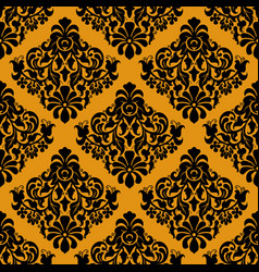 luxury decorative seamless pattern on golden vector image