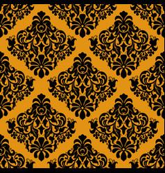 luxury decorative seamless pattern on golden vector image