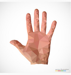 man hand in polygonal style vector image
