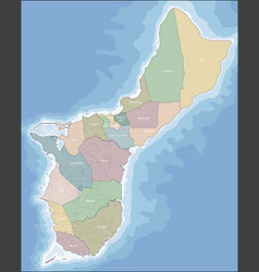 Map of guam vector