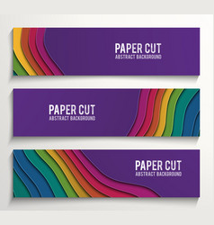 Material design web banner template modern vector