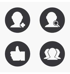 modern social network icons set vector image vector image
