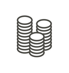 money icon line coin symbol vector image