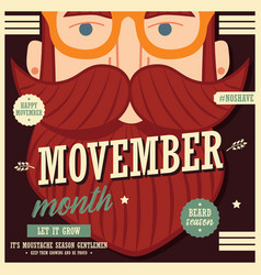 movember poster design prostate cancer awareness vector image