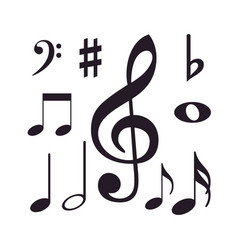 musical instrument icon design collection set vector image