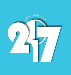 New year 2017 concept on cyan background vector
