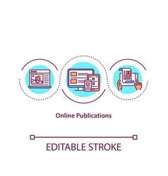 Online publications concept icon vector