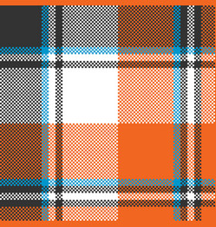 orange check plaid seamless fabric texture vector image