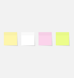Paper sticker set different colours with shadow vector