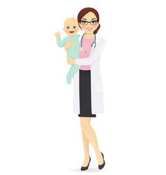 pediatrician vector image