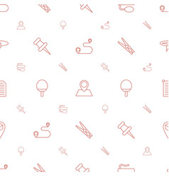 Pin icons pattern seamless white background vector