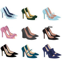 Pretty shoes vector