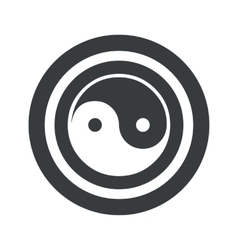 Round black ying yang sign vector image