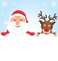 Santa Claus Rudolph vector image