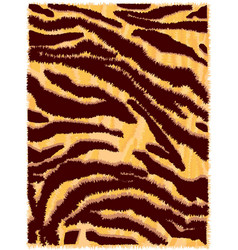 seamless tiger fur pattern vector image