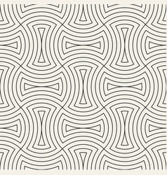 seamless vintage pattern of overlapping arcs in vector image