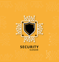 security design with sheild logo vector image