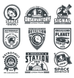 Set of badges space vector