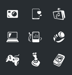 Set of gadgets icons vector